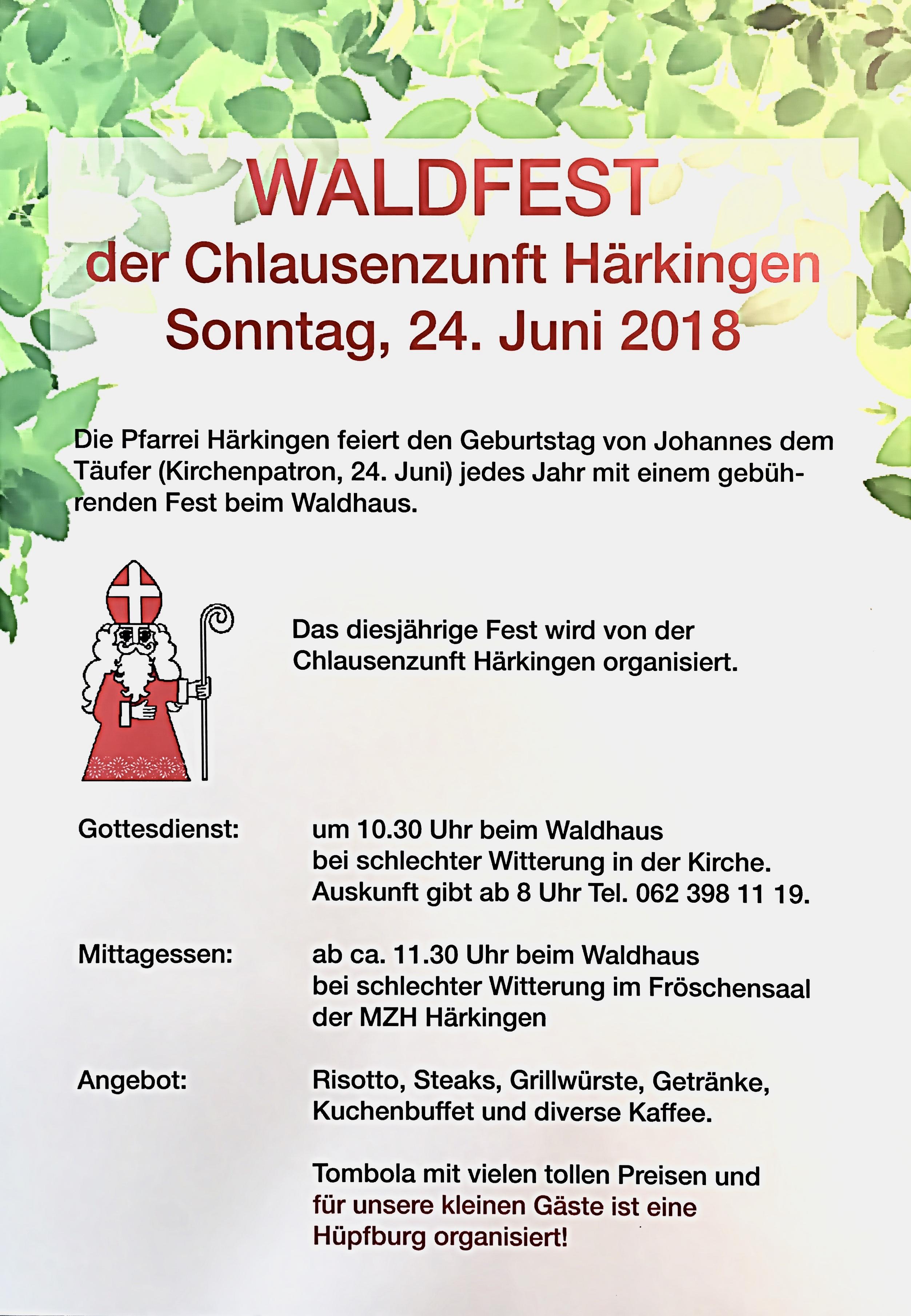 Waldfest zum Namenstag der Johanneskirche