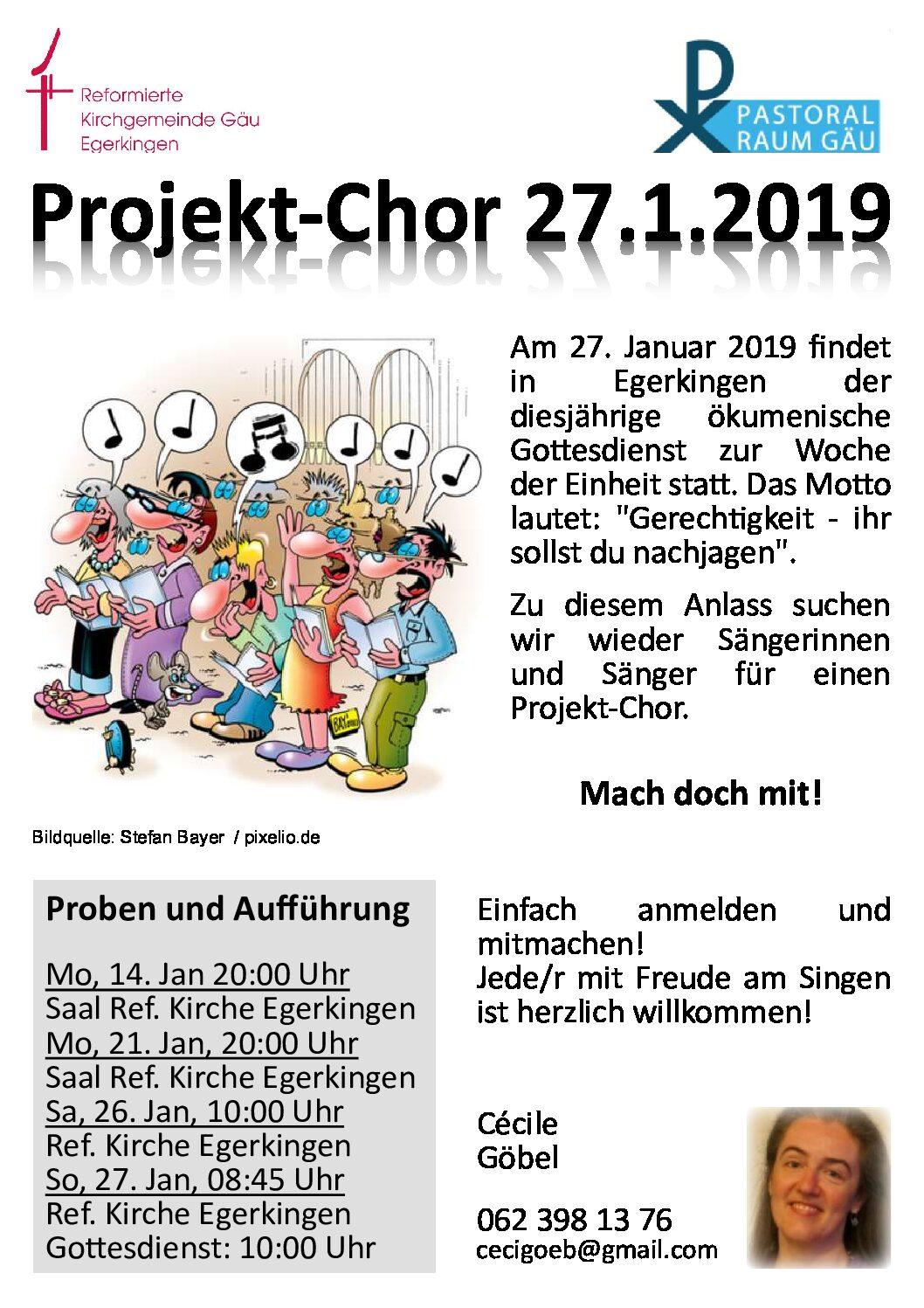 Projekt-Chor 27.1.2019