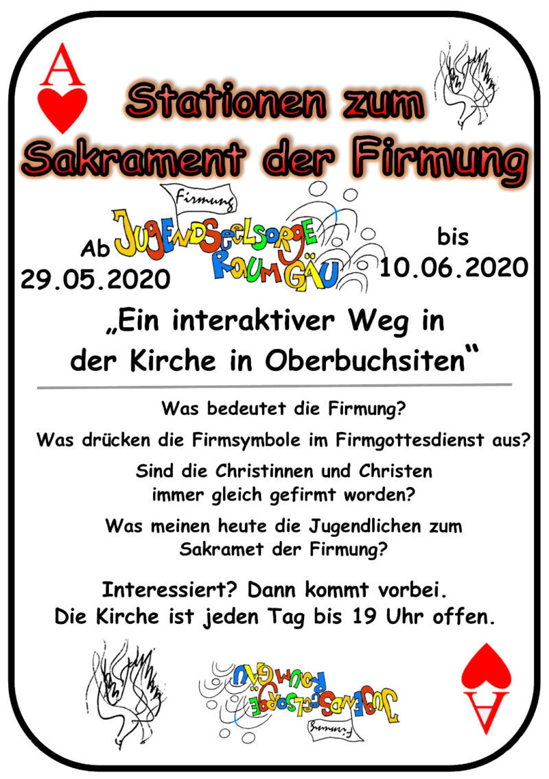 Stationen zum  Sakrament der Firmung_Flyer