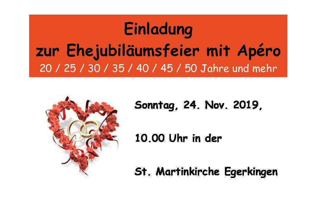 Ehejubiläumsfeier in Egerkingen