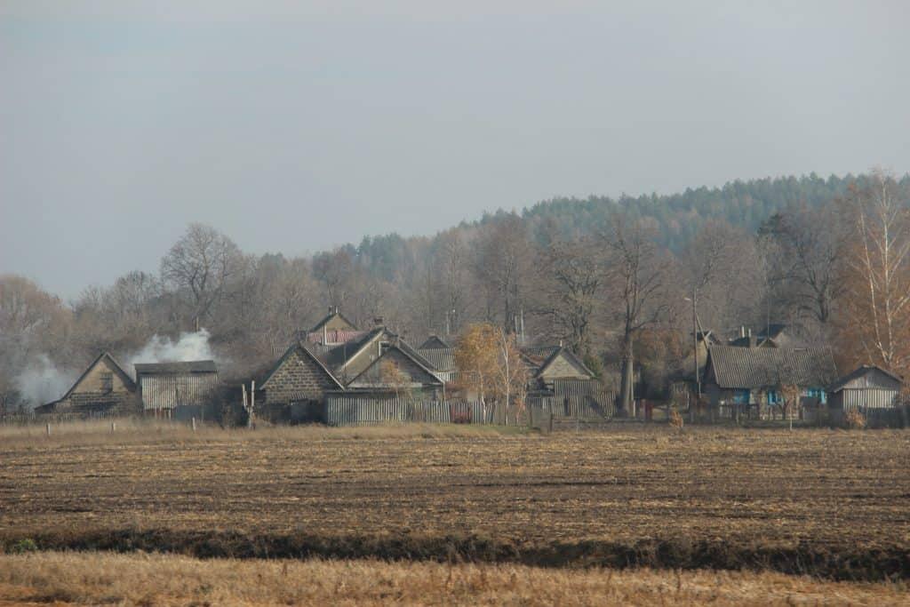Ein typisches Dorf in der weissrussischen Provinz